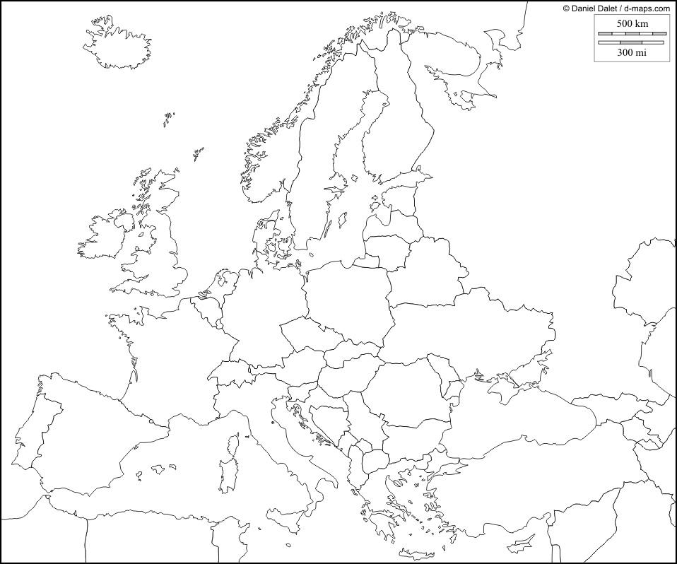 Cartina Europa Muta Da Stampare Formato A4