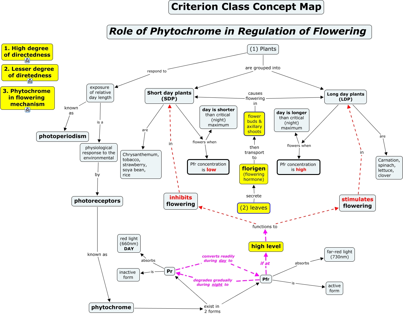 Flower Concept Map.Regulation Of Flowering In Flowering Plants Class Concept Map
